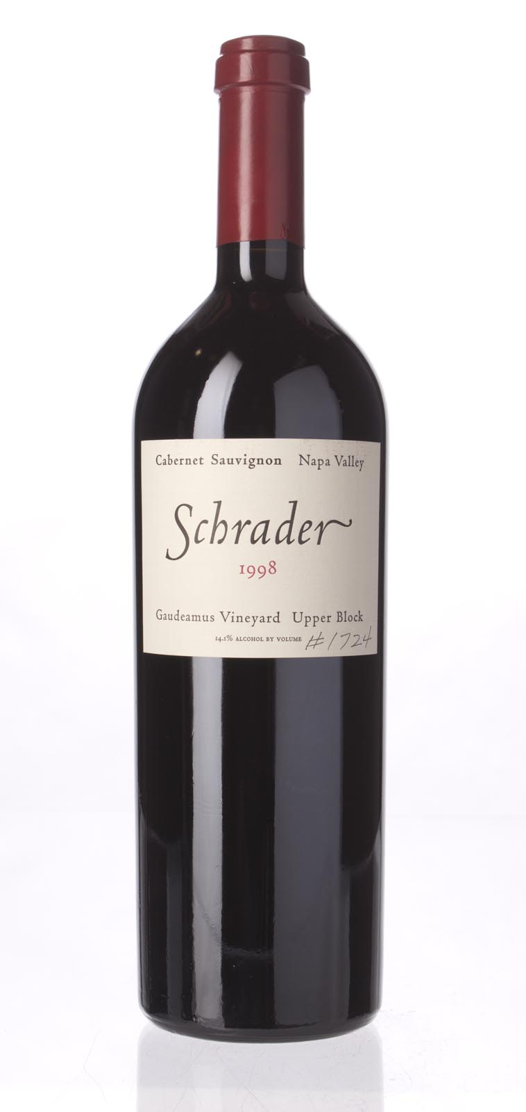 Schrader Cellars Cabernet Sauvignon Gaudeamus Vineyard Upper Block 1998,  (WS91) from The BPW - Merchants of rare and fine wines.