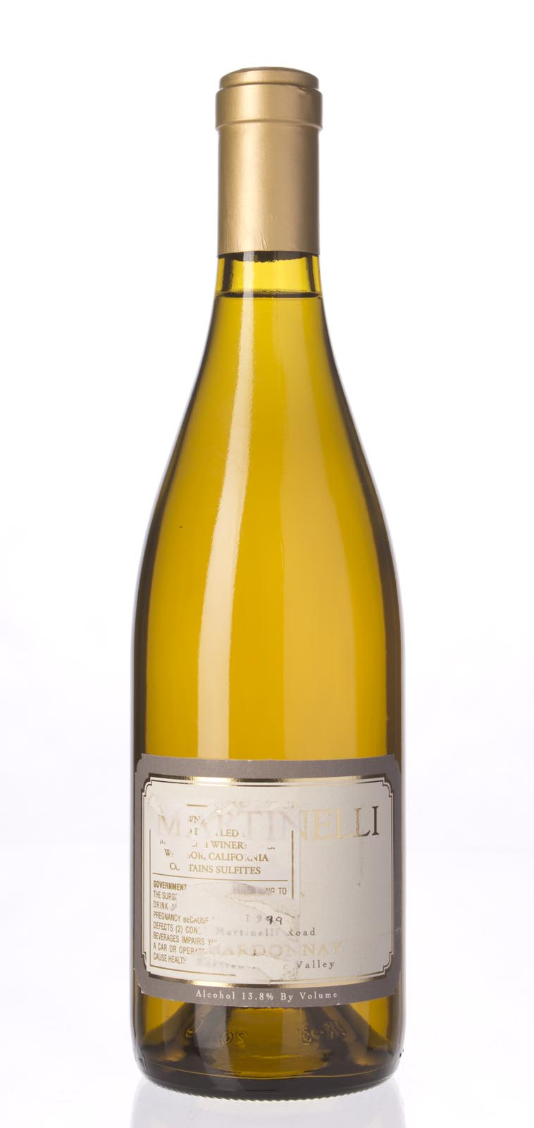 Martinelli Chardonnay Martinelli Road 1999, 750mL (WA91, ST91) from The BPW - Merchants of rare and fine wines.