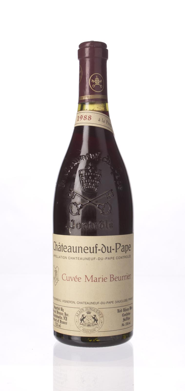Henri Bonneau Chateauneuf du Pape Cuvee Marie Beurrier 1988, 750mL (WS94) from The BPW - Merchants of rare and fine wines.