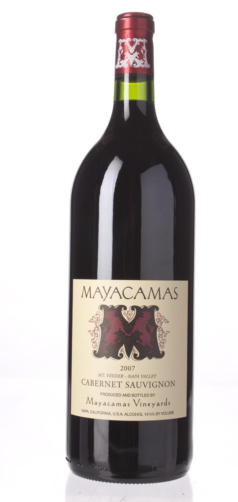 Mayacamas Cabernet Sauvignon 2007, 1.5L () from The BPW - Merchants of rare and fine wines.