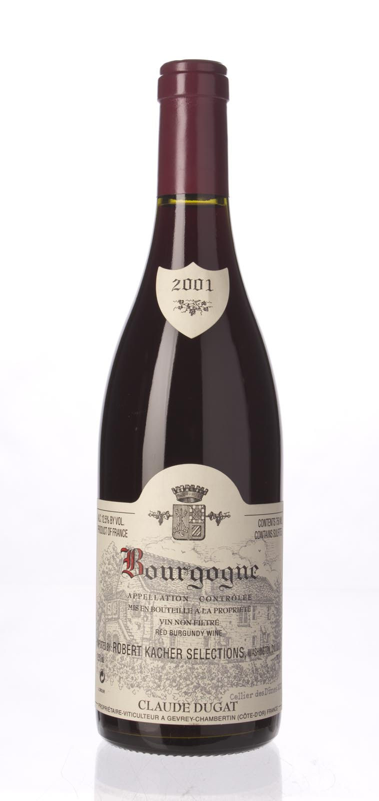 Domaine Claude Dugat Bourgogne Rouge 2001, 750mL () from The BPW - Merchants of rare and fine wines.