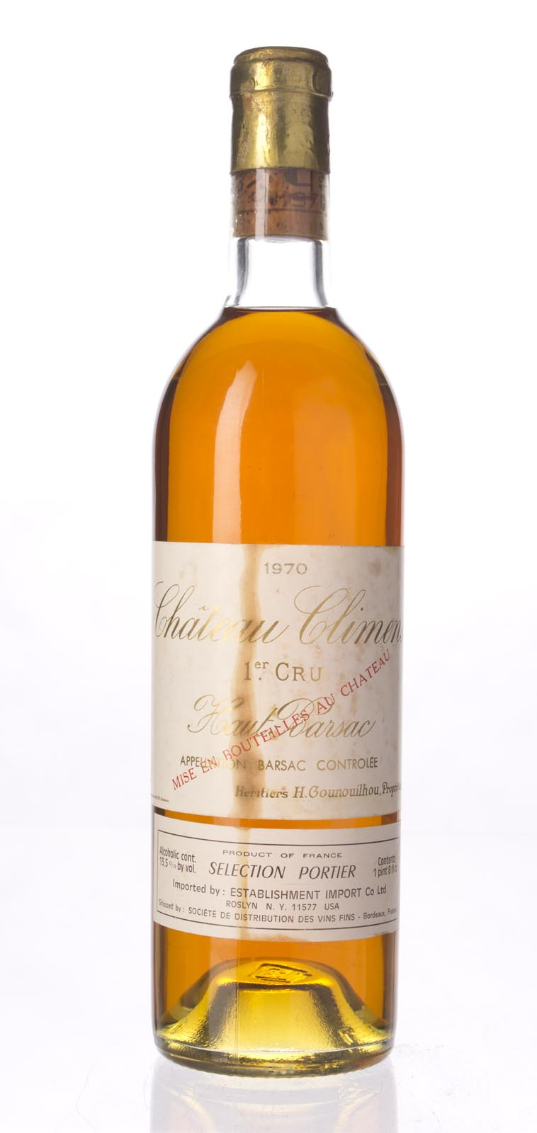 Climens 1970, 750ml () from The BPW - Merchants of rare and fine wines.
