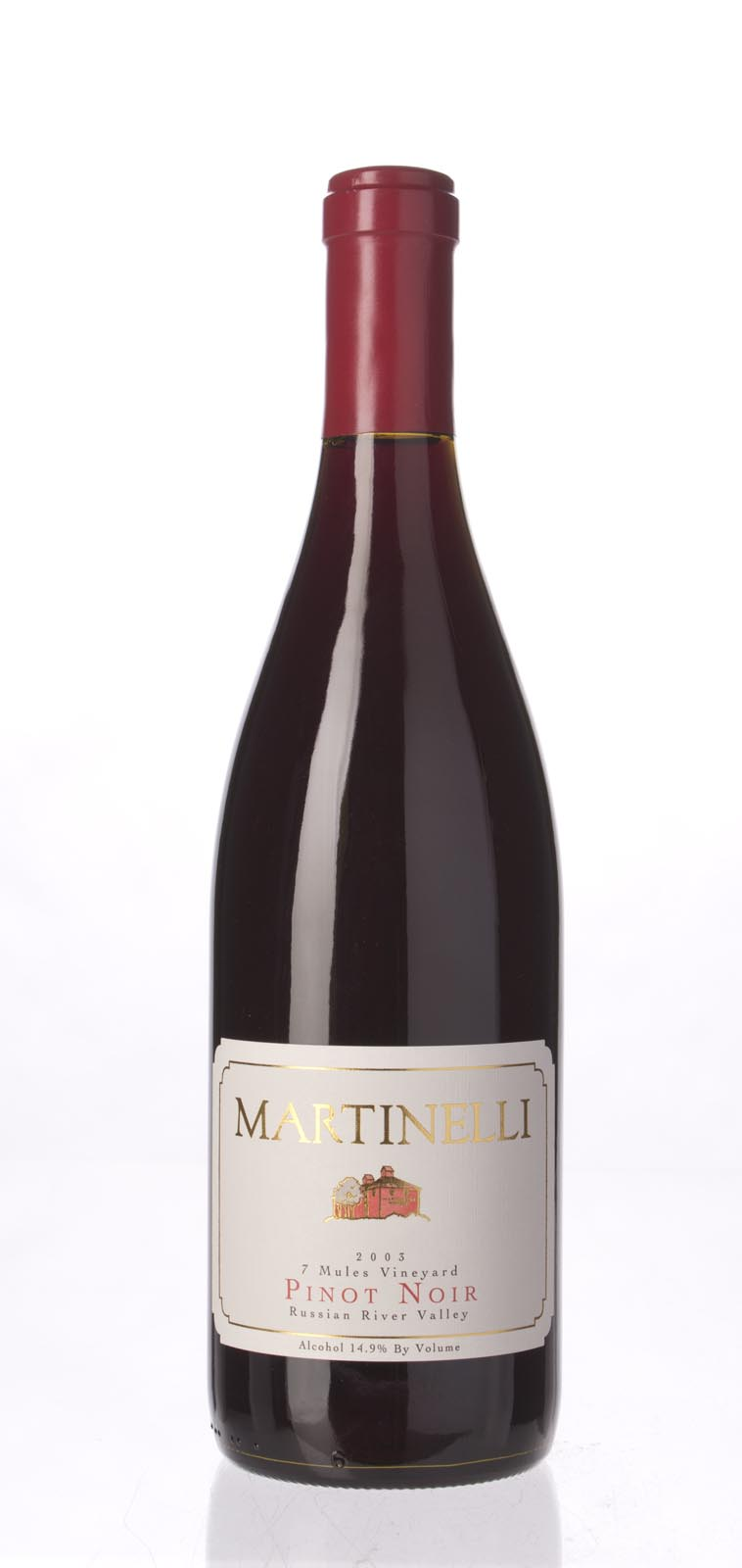 Martinelli Pinot Noir Seven Mules Vineyard 2003, 750mL (WA89) from The BPW - Merchants of rare and fine wines.