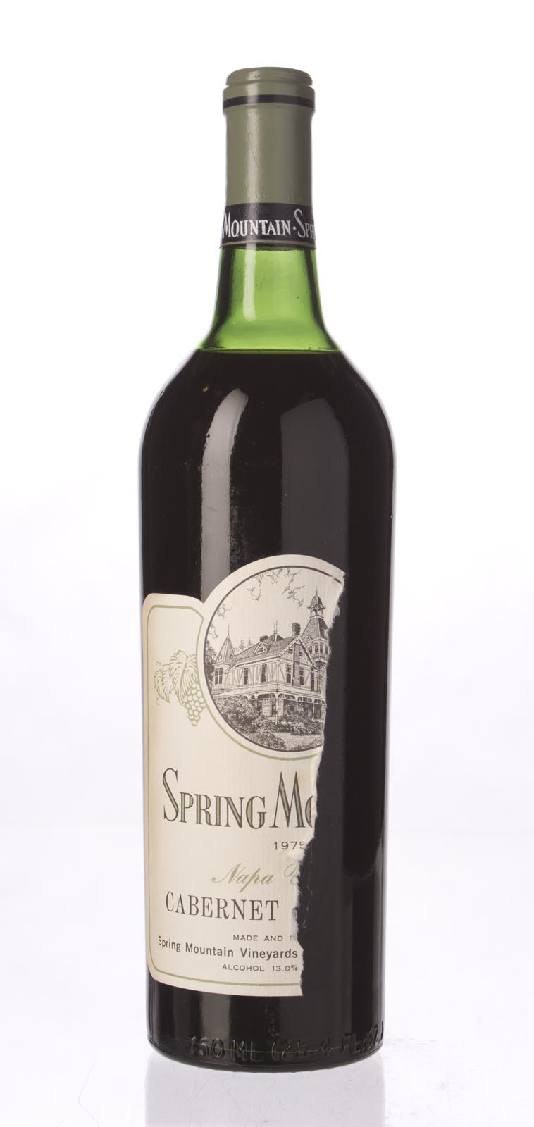 Spring Mountain Cabernet Sauvignon 1975, 750mL () from The BPW - Merchants of rare and fine wines.