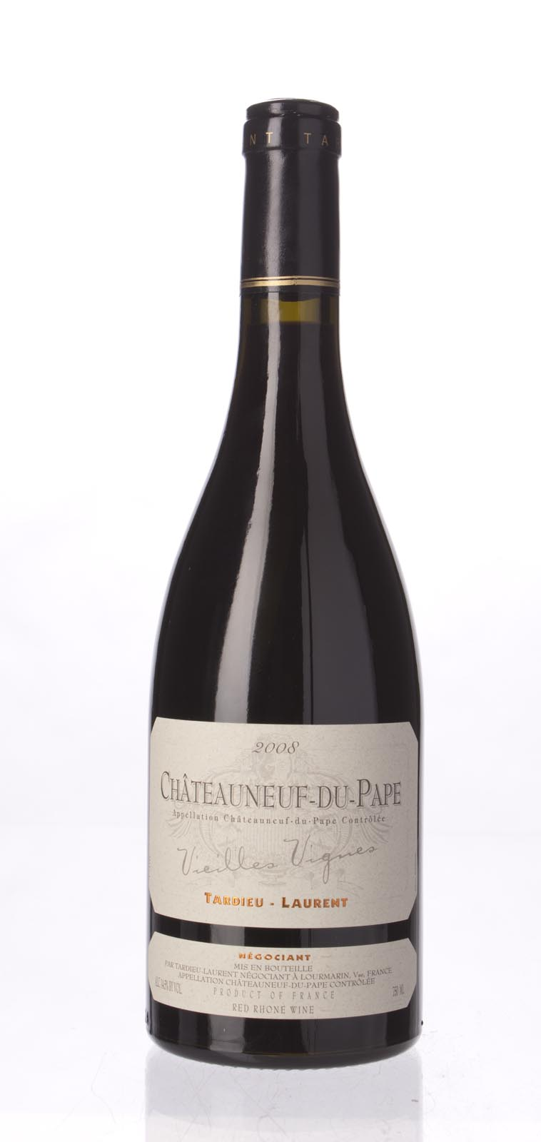 Tardieu Laurent Chateauneuf du Pape Vieilles Vignes 2008, 750mL (WS94) from The BPW - Merchants of rare and fine wines.