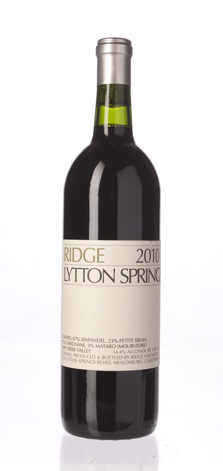 Ridge Proprietary Red Lytton Springs 2010, 750mL (WA93) from The BPW - Merchants of rare and fine wines.