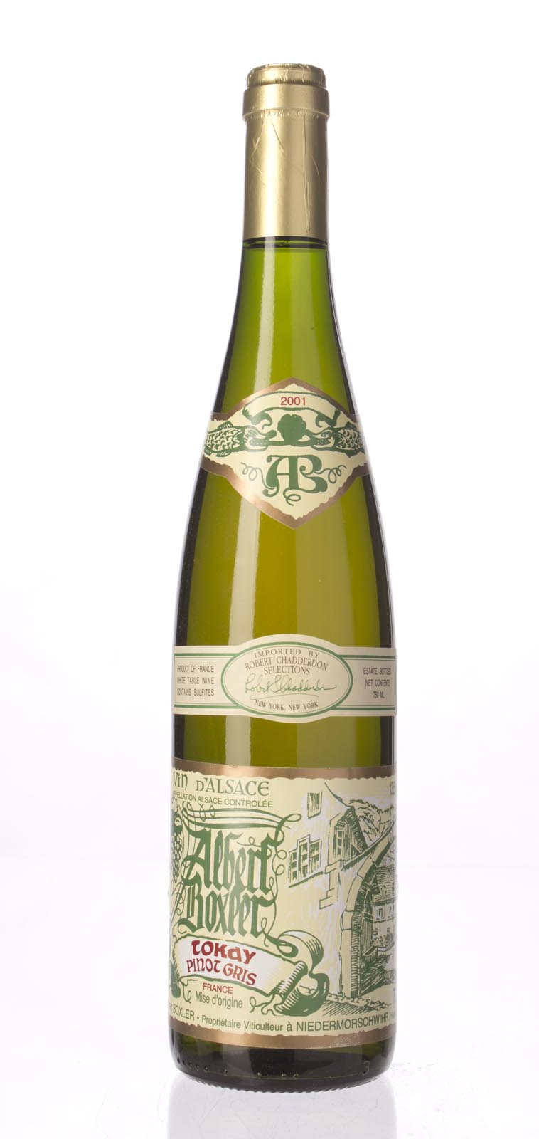Domaine Albert Boxler Tokay Pinot Gris 2001,  () from The BPW - Merchants of rare and fine wines.