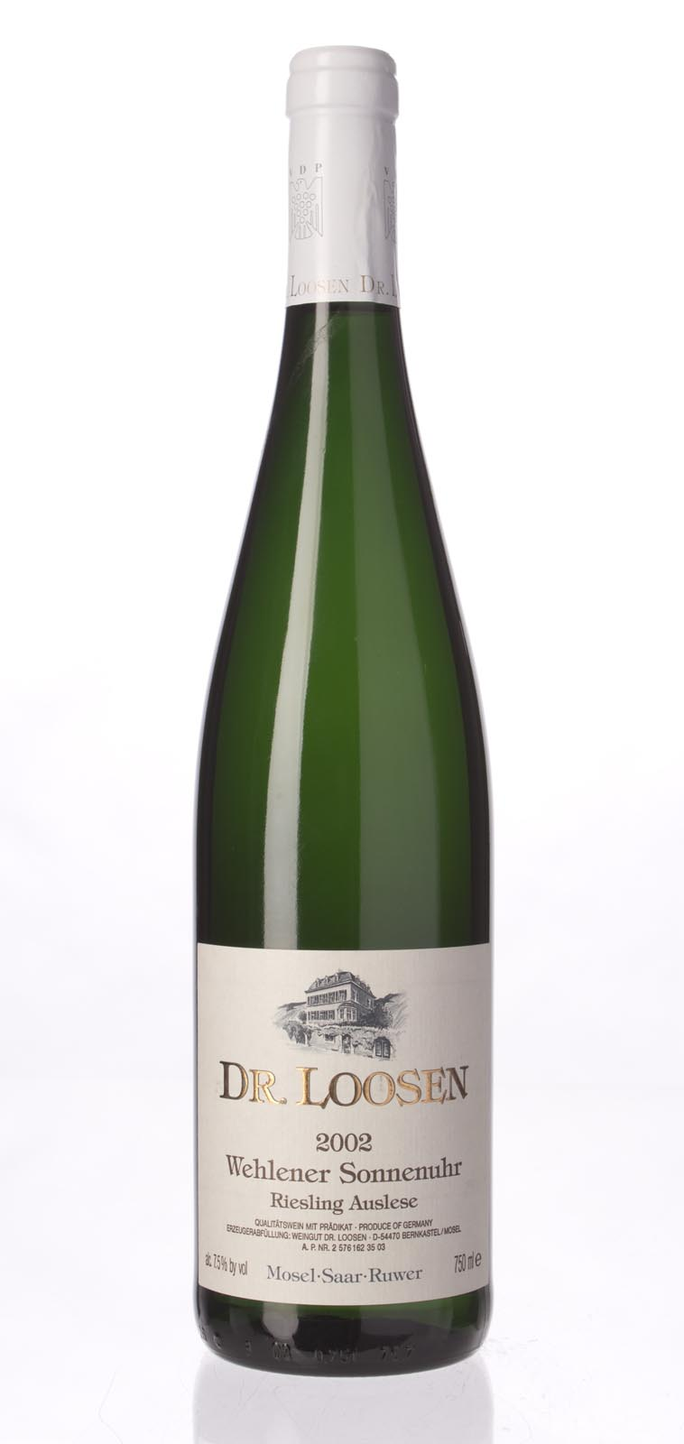 Dr. Loosen Wehlener Sonnenuhr Riesling Auslese 2002, 750mL () from The BPW - Merchants of rare and fine wines.