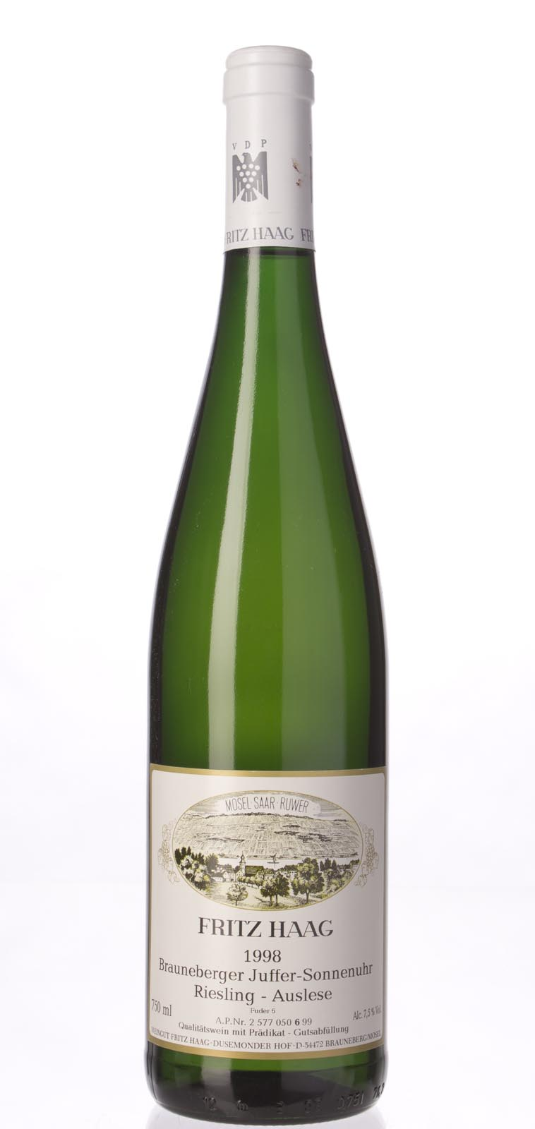Fritz Haag Brauneberger Juffer Sonnenuhr Riesling Auslese 1998, 750mL () from The BPW - Merchants of rare and fine wines.