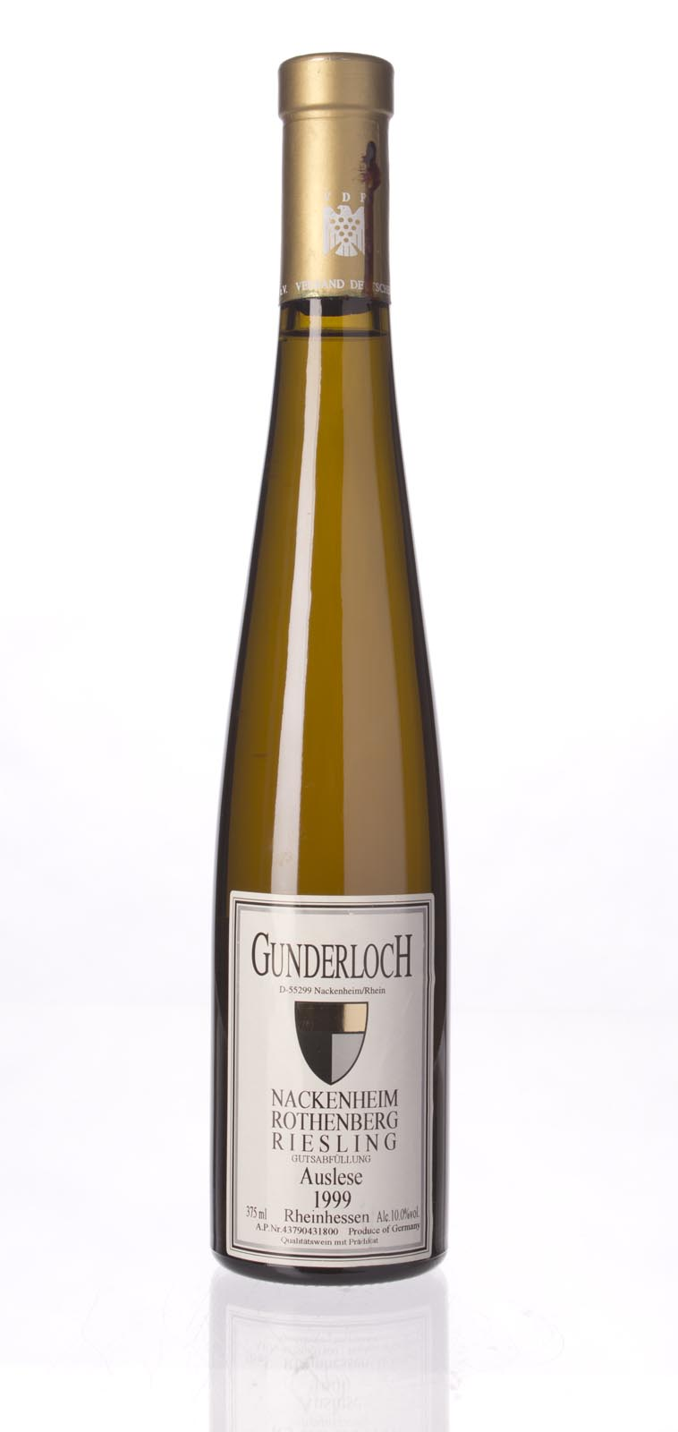 Gunderloch Nackenheimer Rothenberg Riesling Auslese Gold Capsule 1999, 375ml (WS95) from The BPW - Merchants of rare and fine wines.