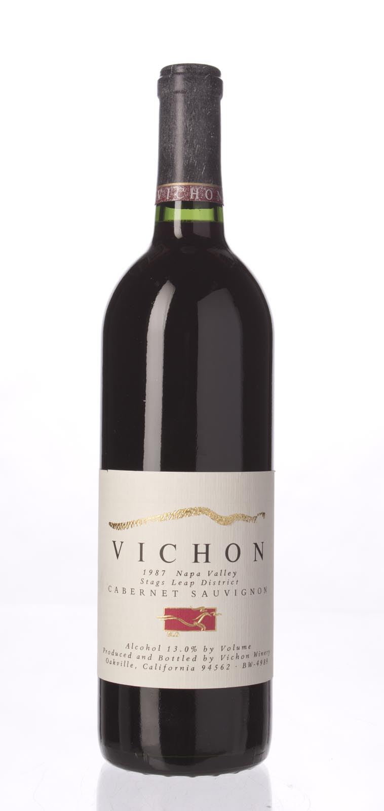 Vichon Cabernet Sauvignon Stag`s Leap District 1987, 750ml () from The BPW - Merchants of rare and fine wines.