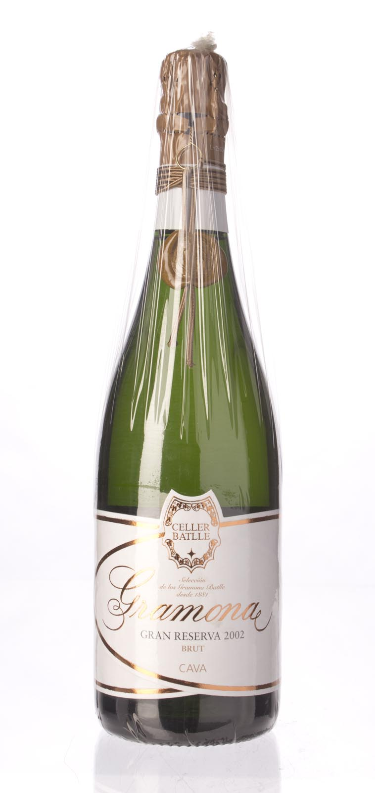 Gramona Celler Battle Gran Reserva Brut Cava 2002, 750mL (WA95) from The BPW - Merchants of rare and fine wines.