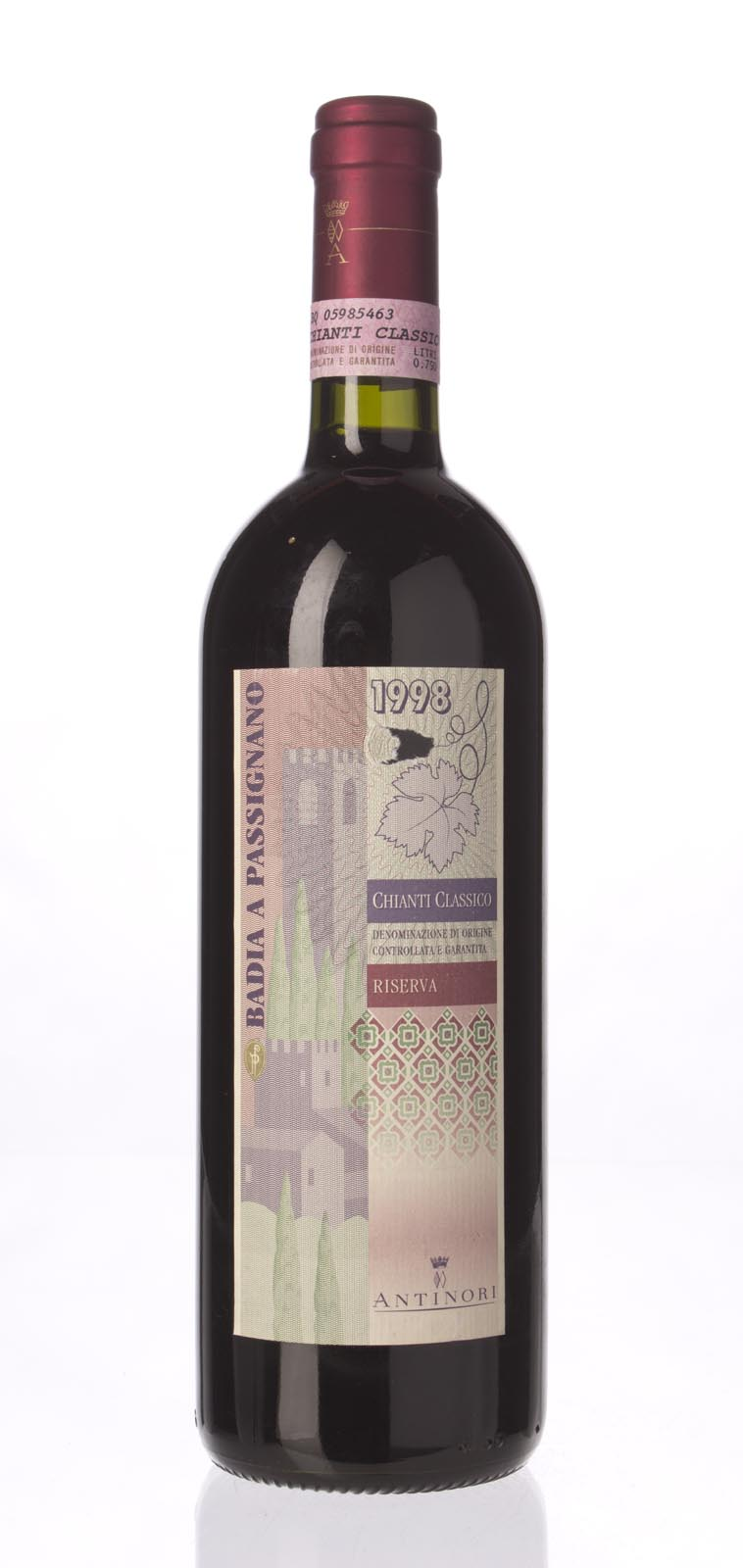 Antinori Chianti Classico Badia a Passignano 1998, 750mL () from The BPW - Merchants of rare and fine wines.