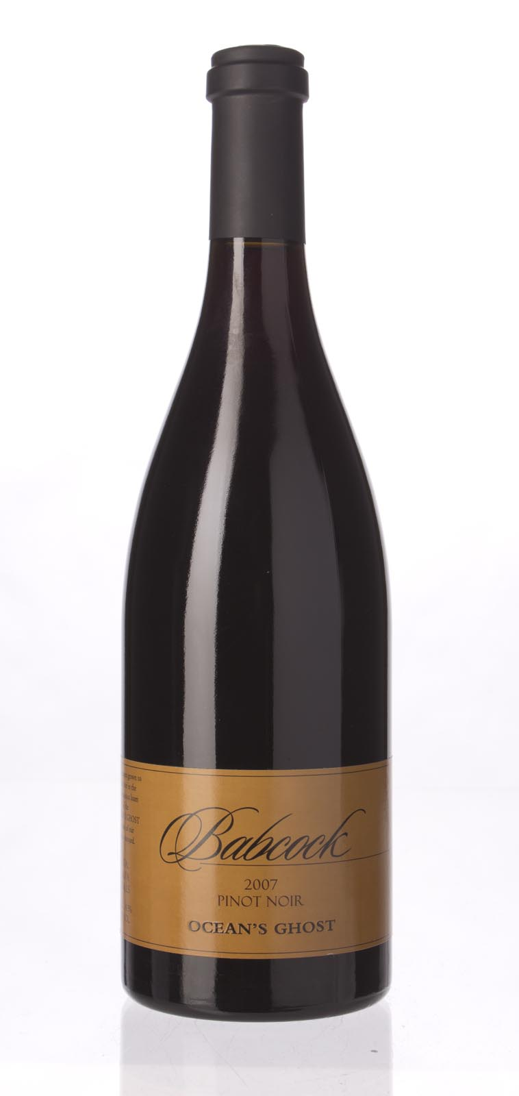 Babcock Pinot Noir Mount Ocean`s Ghost 2007, 750mL () from The BPW - Merchants of rare and fine wines.