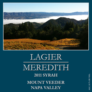 Lagier Meredith Syrah Mount Veeder 2011,  (WA90) from The BPW - Merchants of rare and fine wines.