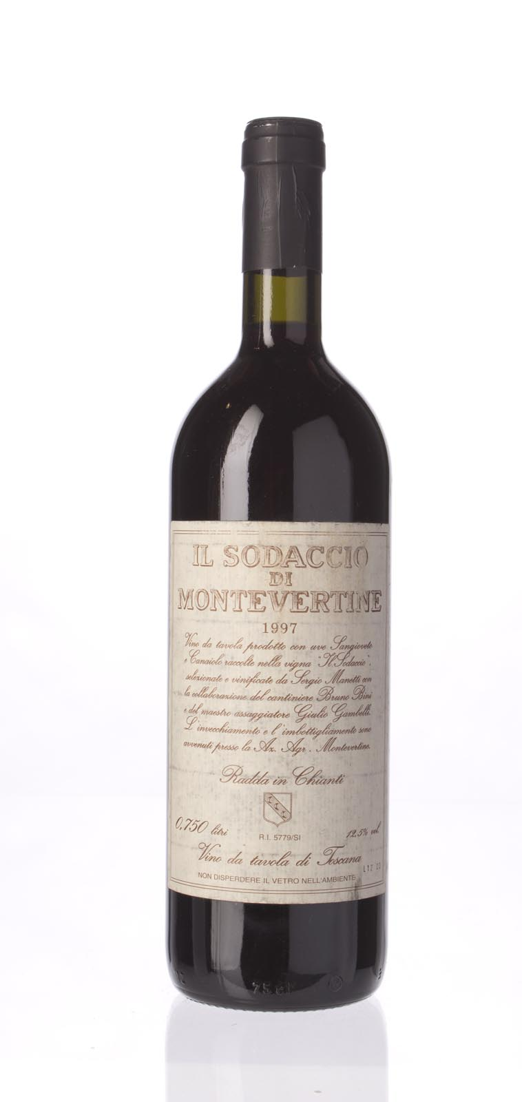 Montevertine Il Sodaccio 1997, 750mL (WS91) from The BPW - Merchants of rare and fine wines.