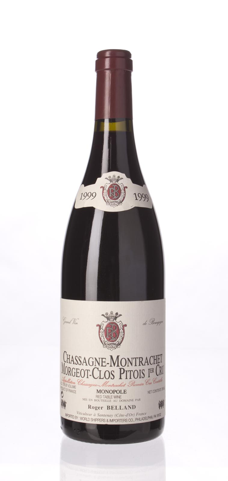 Roger Belland Chassagne Montrachet Rouge Morgeot Clos Pitois 1999, 750ml () from The BPW - Merchants of rare and fine wines.