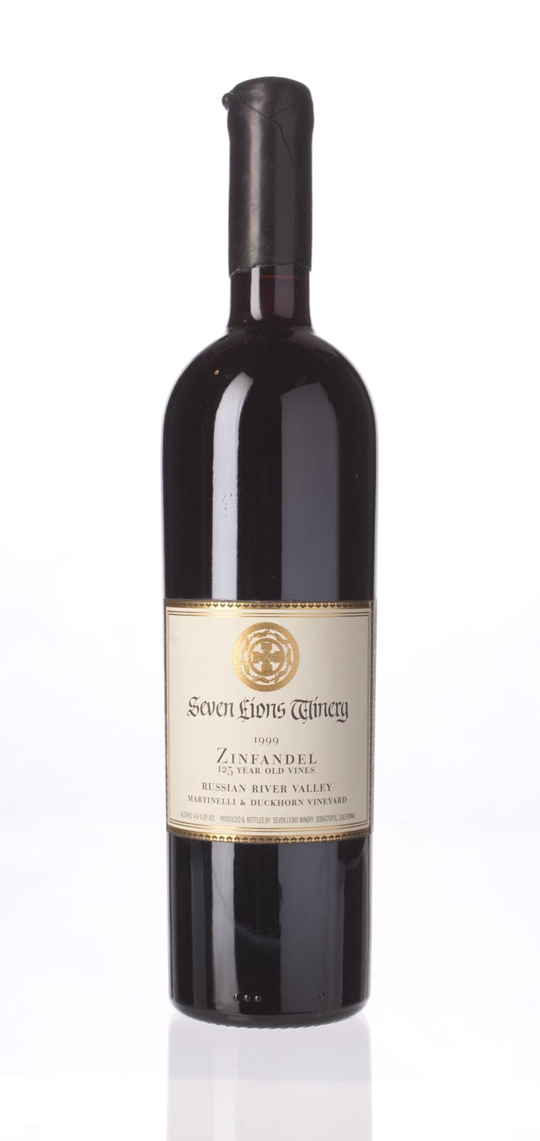 Seven Lions Zinfandel Martinelli and Duckhorn Vineyard 1999, 750mL (WA89) from The BPW - Merchants of rare and fine wines.