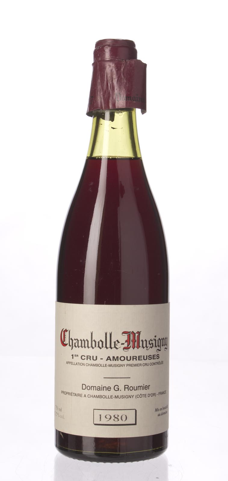 Domaine Georges Roumier Chambolle Musigny les Amoureuses 1980, 750mL (BH92) from The BPW - Merchants of rare and fine wines.