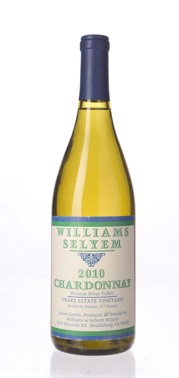 Williams Selyem Chardonnay Drake Estate 2010, 750mL () from The BPW - Merchants of rare and fine wines.