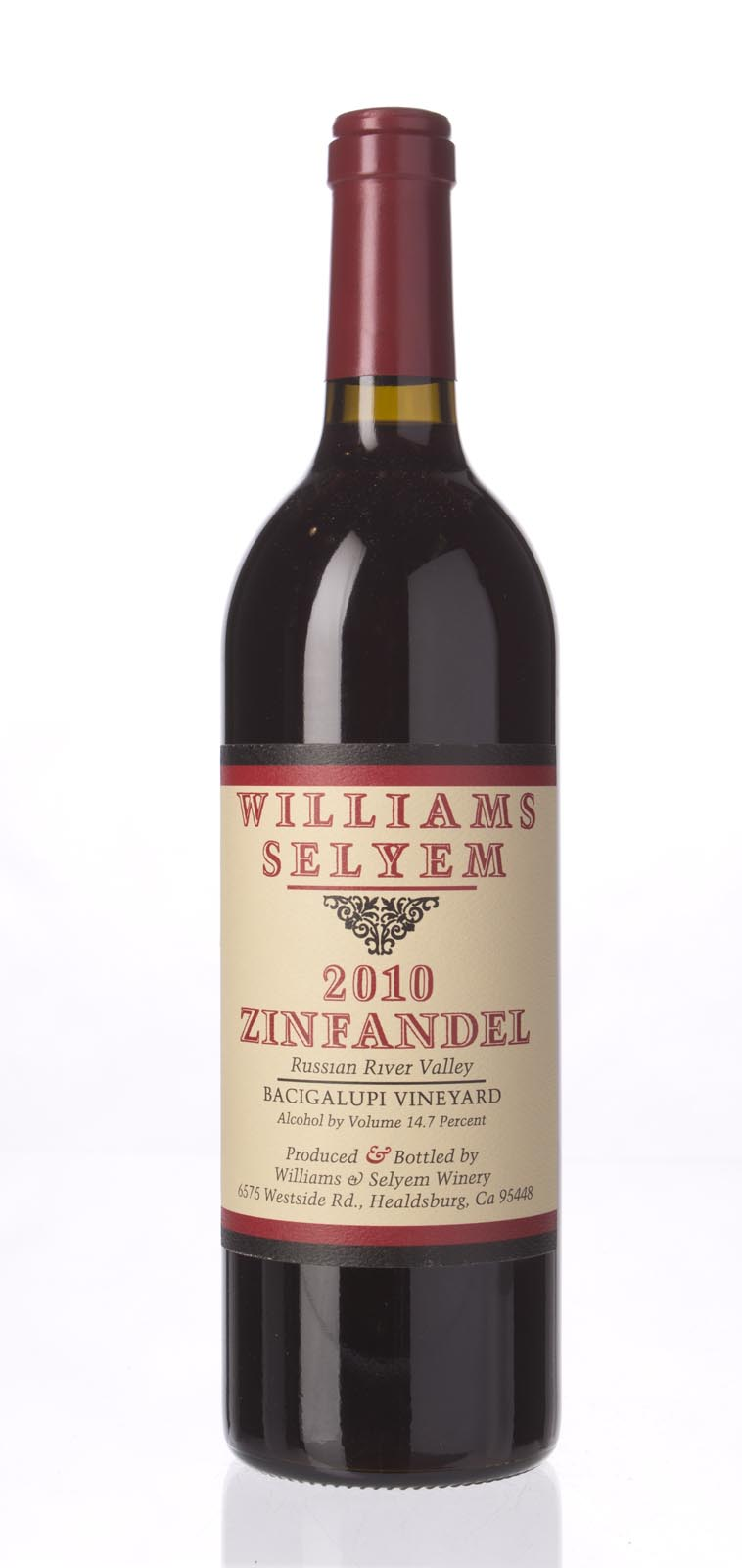 Williams Selyem Zinfandel Bacigalupi Vineyard 2010, 750mL () from The BPW - Merchants of rare and fine wines.