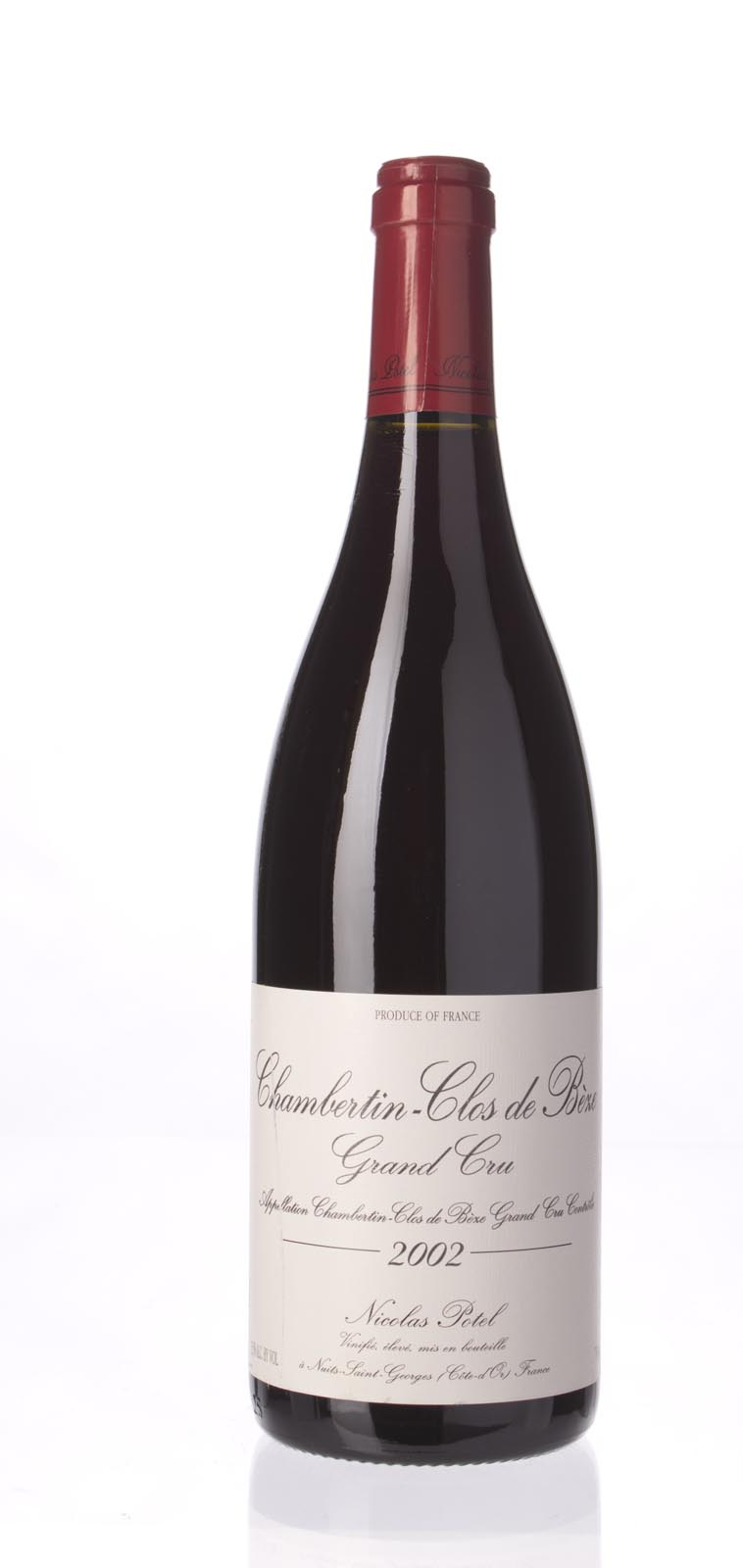 Nicolas Potel Chambertin Clos de Beze 2002, 750mL () from The BPW - Merchants of rare and fine wines.