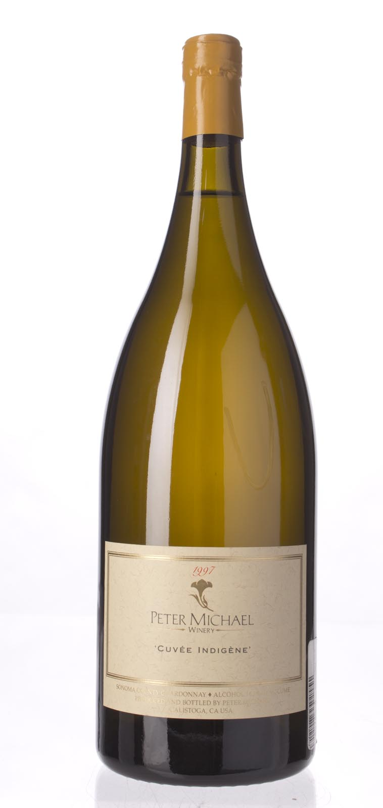 Peter Michael Winery Chardonnay Cuvee Indigene 1997, 1.5L (WA95, ST94) from The BPW - Merchants of rare and fine wines.