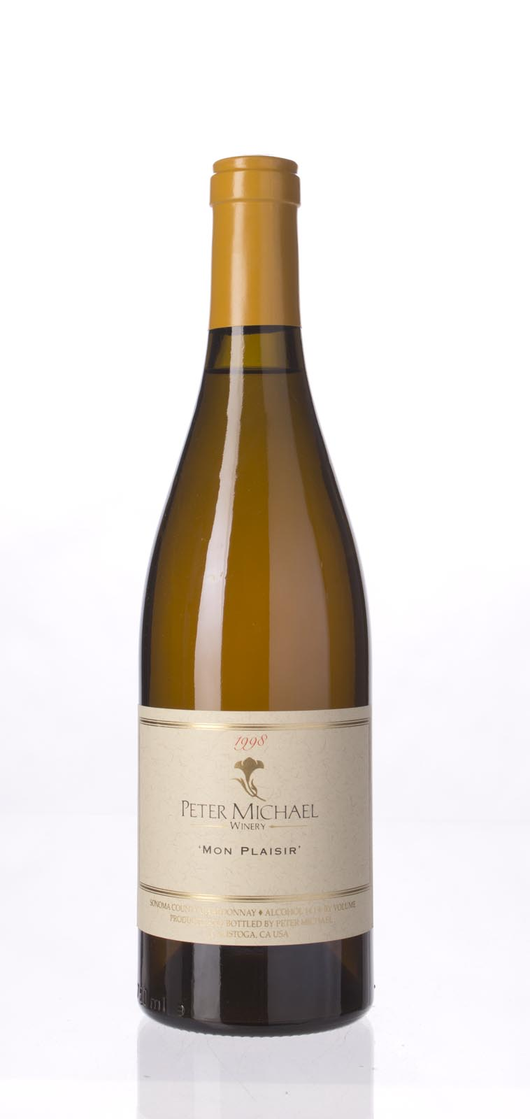 Peter Michael Winery Chardonnay Mon Plaisir 1998, 750mL (WA95) from The BPW - Merchants of rare and fine wines.