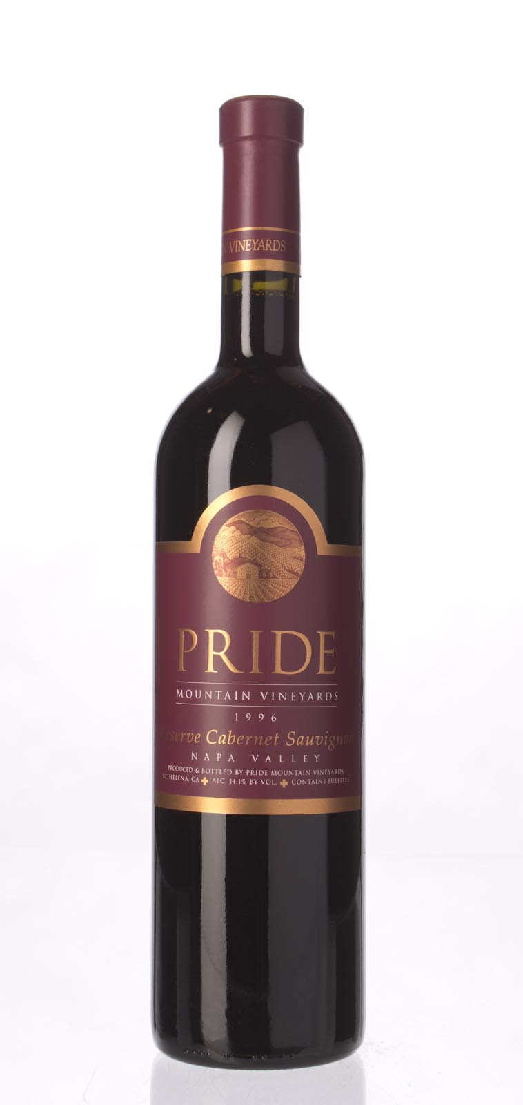 Pride Mountain Vineyards Cabernet Sauvignon Reserve 1996, 750mL (WA99) from The BPW - Merchants of rare and fine wines.