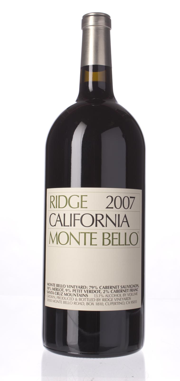 Ridge Monte Bello 2007, 3L (JS97, WA92) from The BPW - Merchants of rare and fine wines.