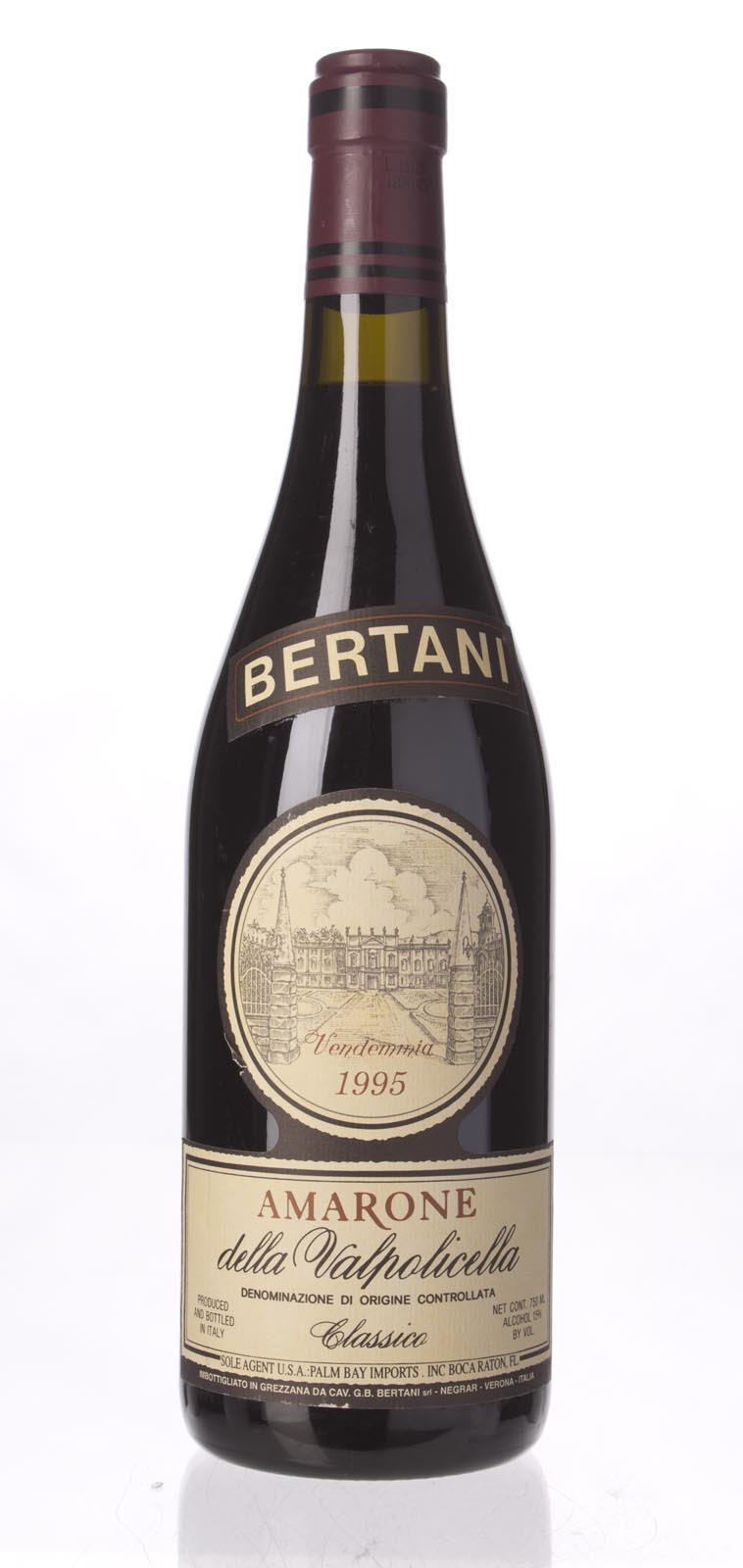 Bertani Amarone della Valpolicella 1995, 750mL () from The BPW - Merchants of rare and fine wines.