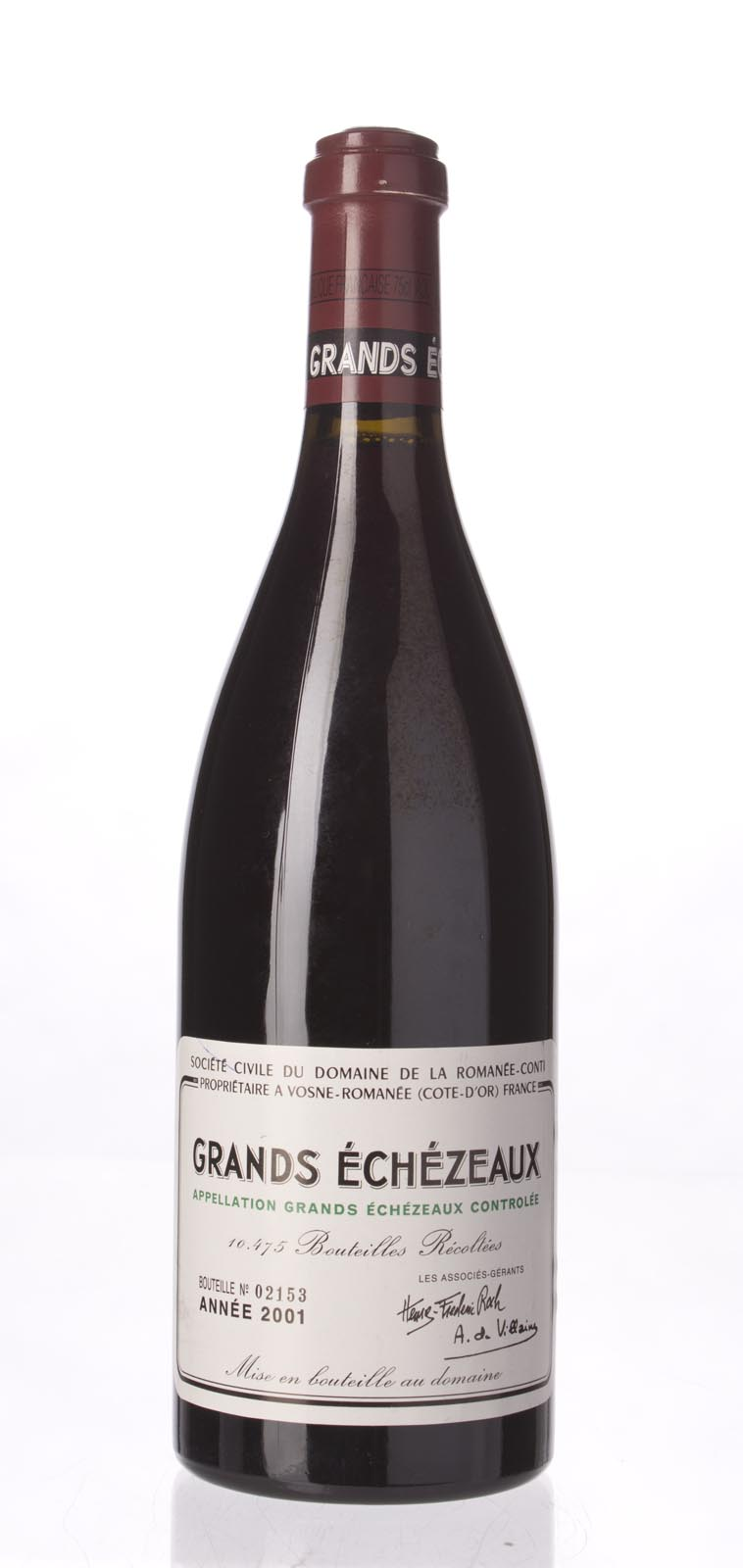 Domaine de La Romanee Conti Grands Echezeaux 2001, 750mL (BH93, ST92) from The BPW - Merchants of rare and fine wines.