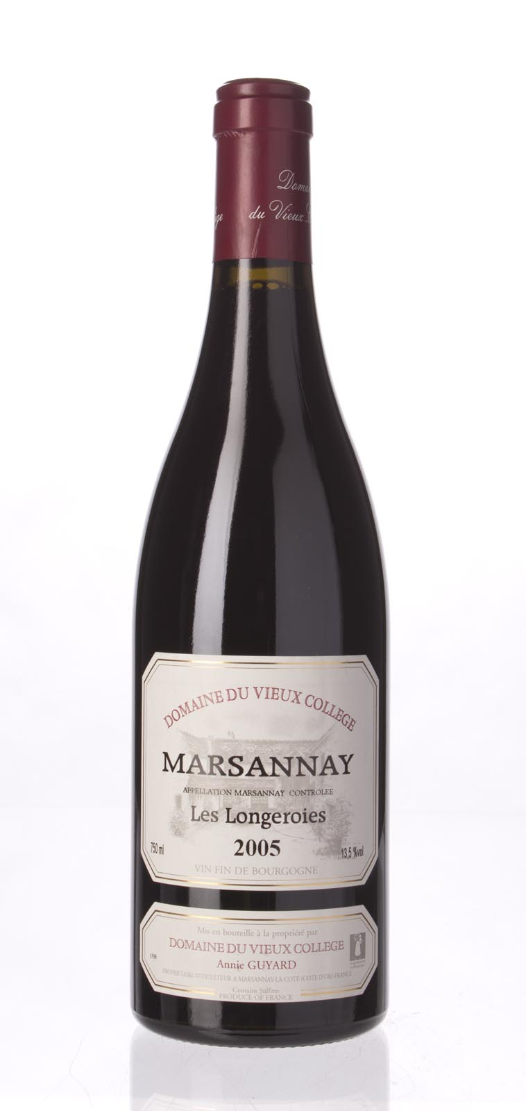 Domaine du Vieux College Marsannay Les Longeroies 2005, 750mL (CT87.7) from The BPW - Merchants of rare and fine wines.