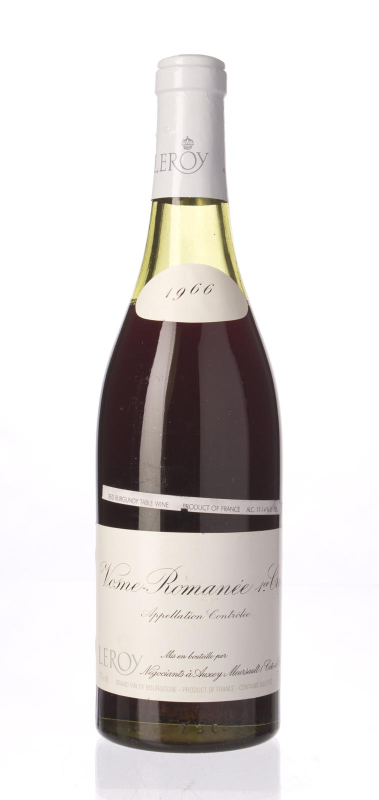 Domaine Leroy Vosne Romanee 1er Cru 1966, 750mL (CT93) from The BPW - Merchants of rare and fine wines.