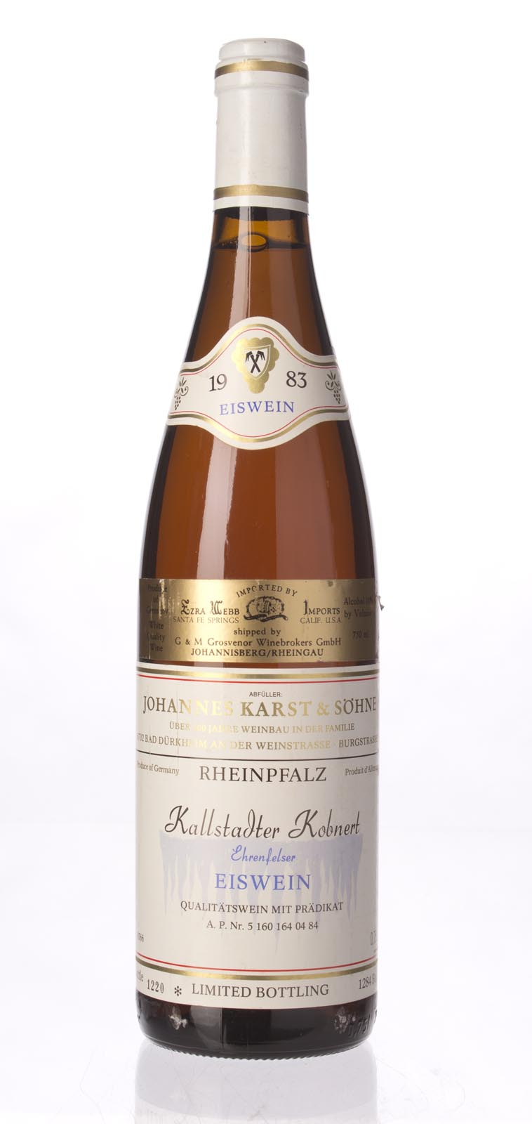 Karst & Sohn Ehrenfelser Kallstadter Eiswein 1983, 750mL () from The BPW - Merchants of rare and fine wines.