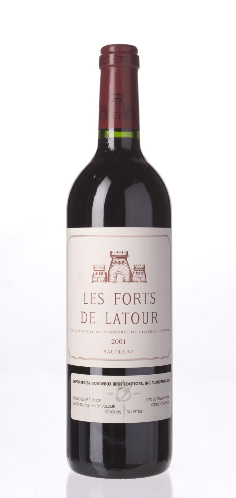 Les Forts de Latour 2001, 750mL (WA90) from The BPW - Merchants of rare and fine wines.