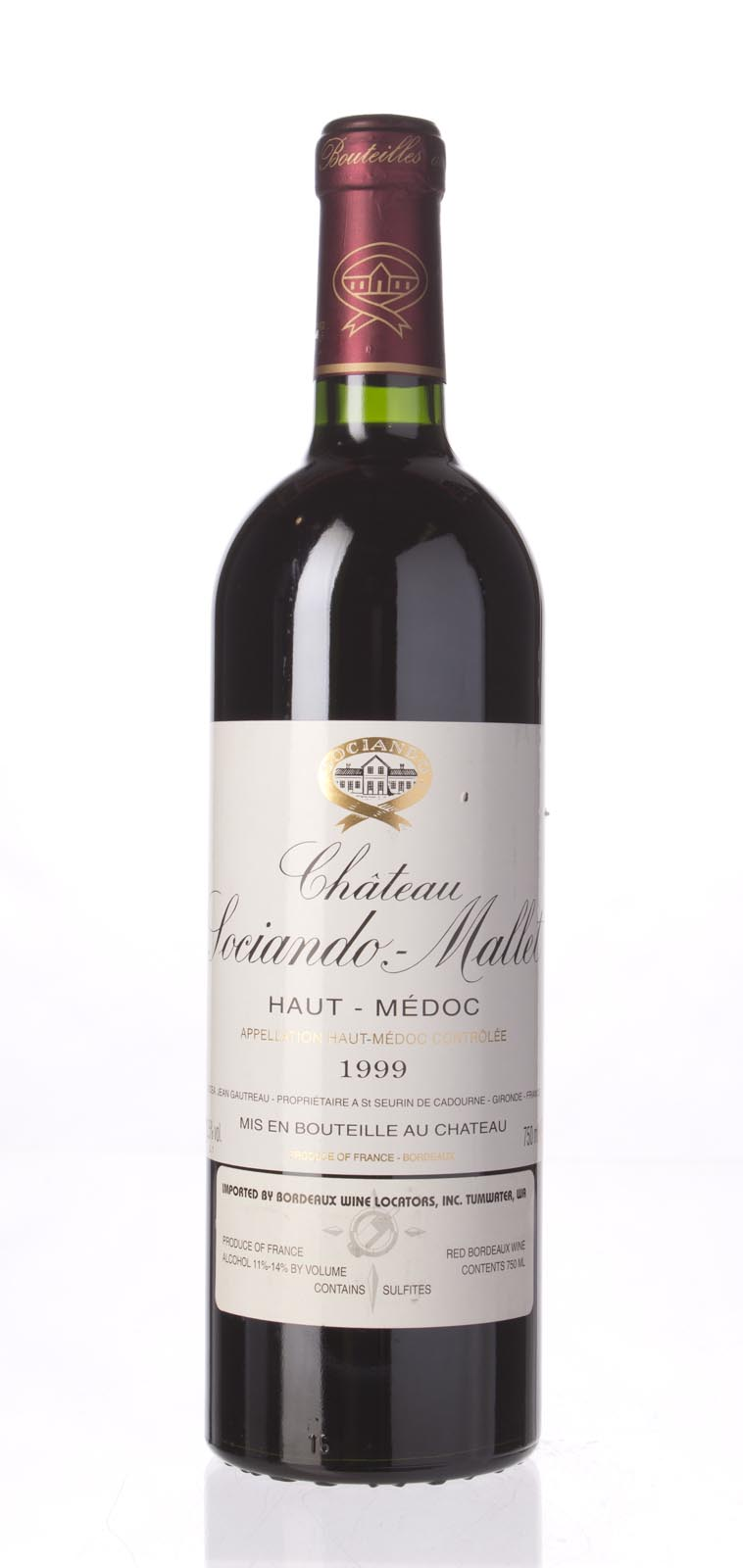 Sociando Mallet 1999, 750mL (ST90) from The BPW - Merchants of rare and fine wines.