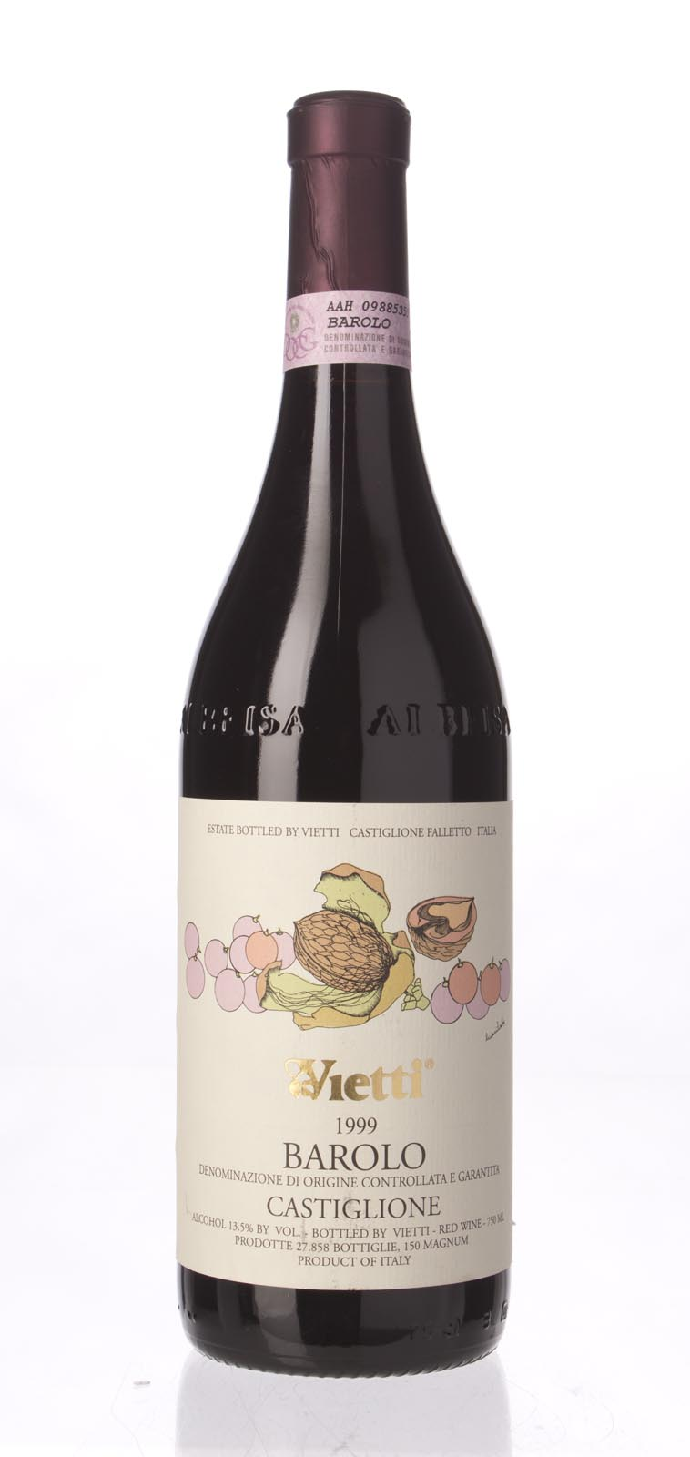 Vietti Barolo Castiglione 1999, 750mL (WA88) from The BPW - Merchants of rare and fine wines.