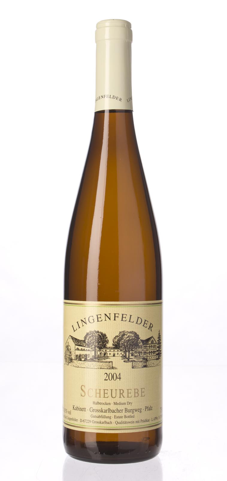 Lingenfelder Grosskarlbacher Burgweg Scheurebe Kabinett 2004, 750ml () from The BPW - Merchants of rare and fine wines.