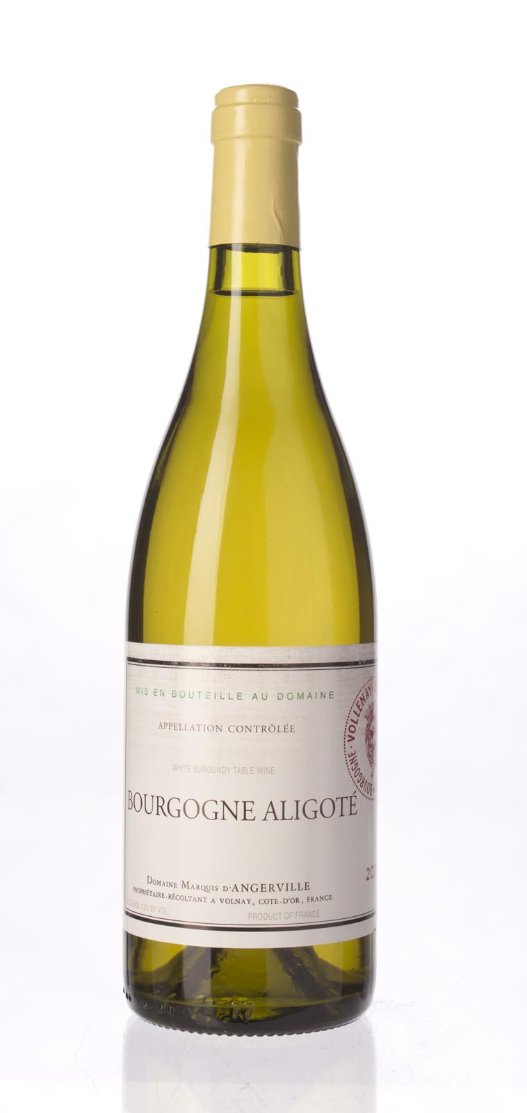 Marquis d`Angerville Bourgogne Aligote 2000, 750mL () from The BPW - Merchants of rare and fine wines.