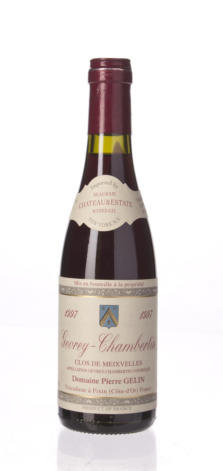 Pierre Gelin Gevrey Chambertin Clos de Meixvelles 1997,  () from The BPW - Merchants of rare and fine wines.