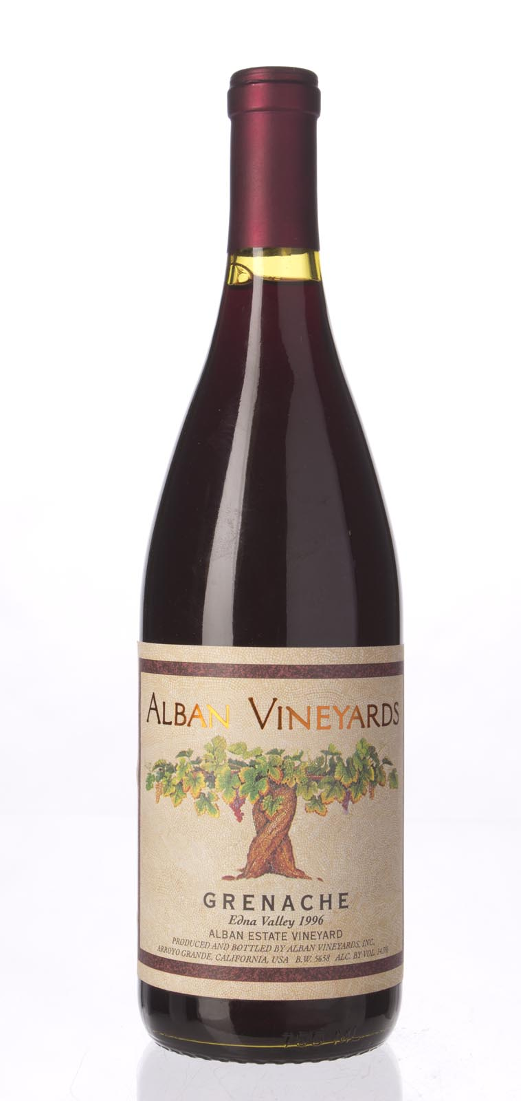 Alban Vineyards Grenache Alban Estate Vineyard 1996, 750mL () from The BPW - Merchants of rare and fine wines.