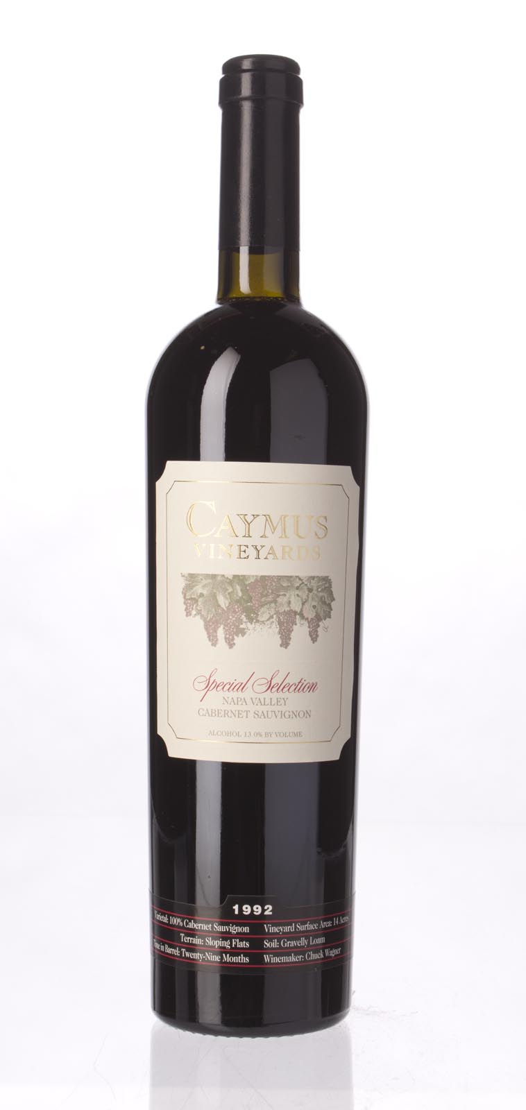 Caymus Cabernet Sauvignon Special Selection 1992, 750mL (WA94) from The BPW - Merchants of rare and fine wines.