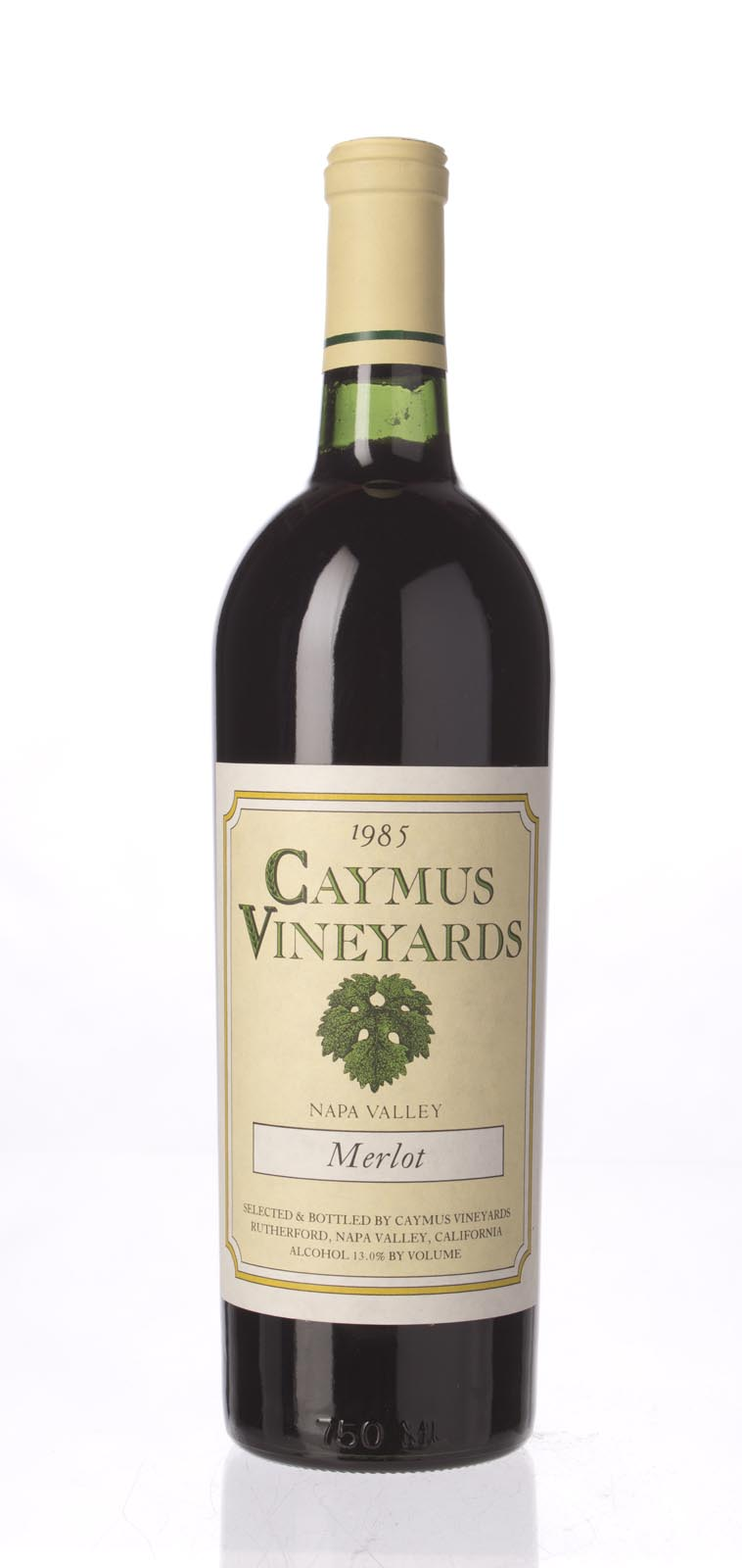 Caymus Merlot Napa Valley 1985, 750mL () from The BPW - Merchants of rare and fine wines.