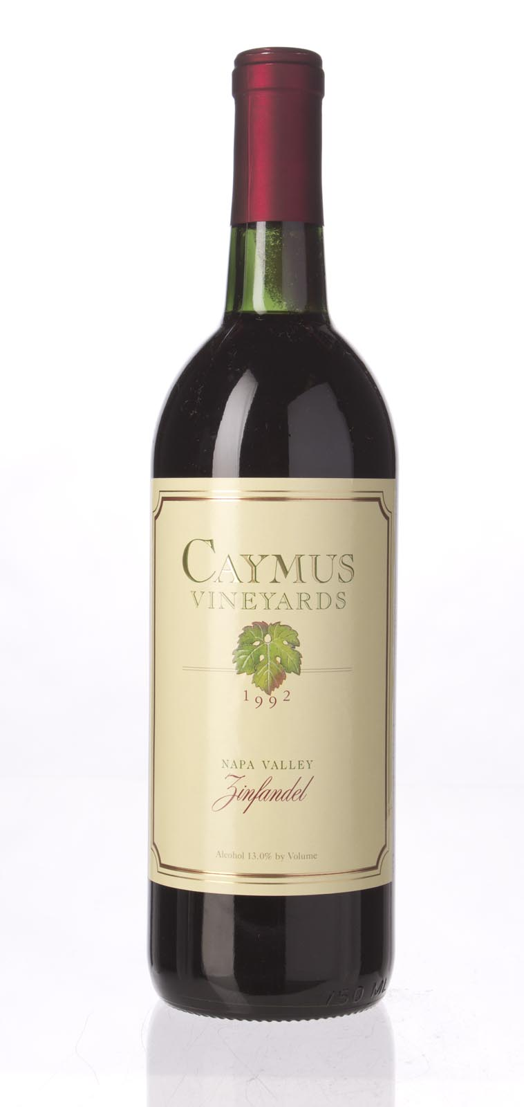 Caymus Zinfandel Napa Valley 1992, 750mL () from The BPW - Merchants of rare and fine wines.