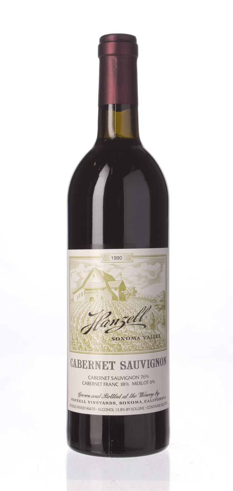 Hanzell Cabernet Sauvignon 1990, 750ml () from The BPW - Merchants of rare and fine wines.
