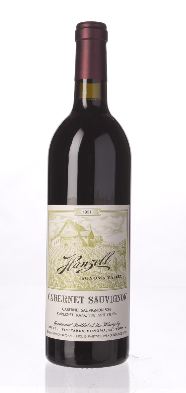 Hanzell Cabernet Sauvignon 1991, 750mL () from The BPW - Merchants of rare and fine wines.