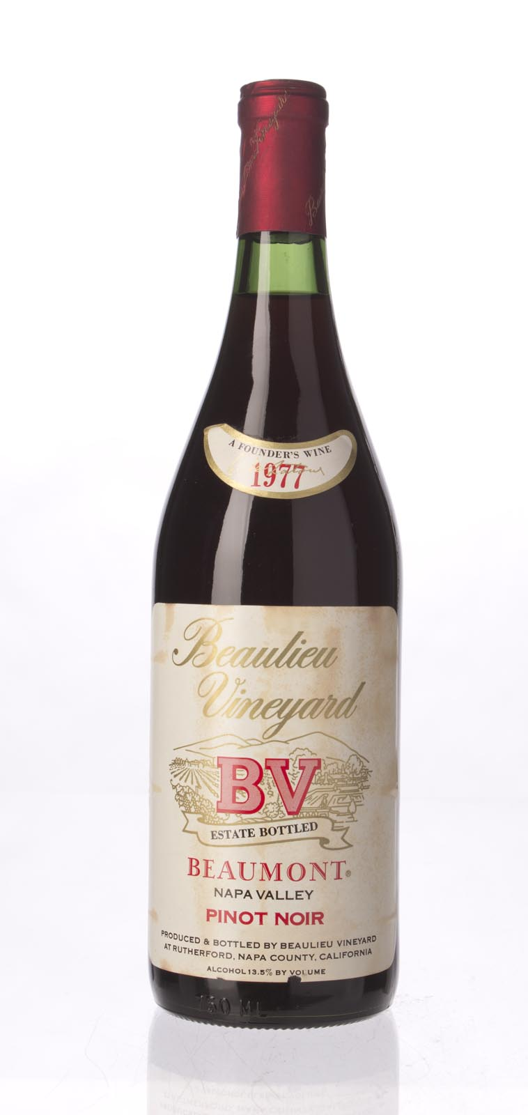 Beaulieu Vineyard Pinot Noir Beaumont 1977, 750mL () from The BPW - Merchants of rare and fine wines.