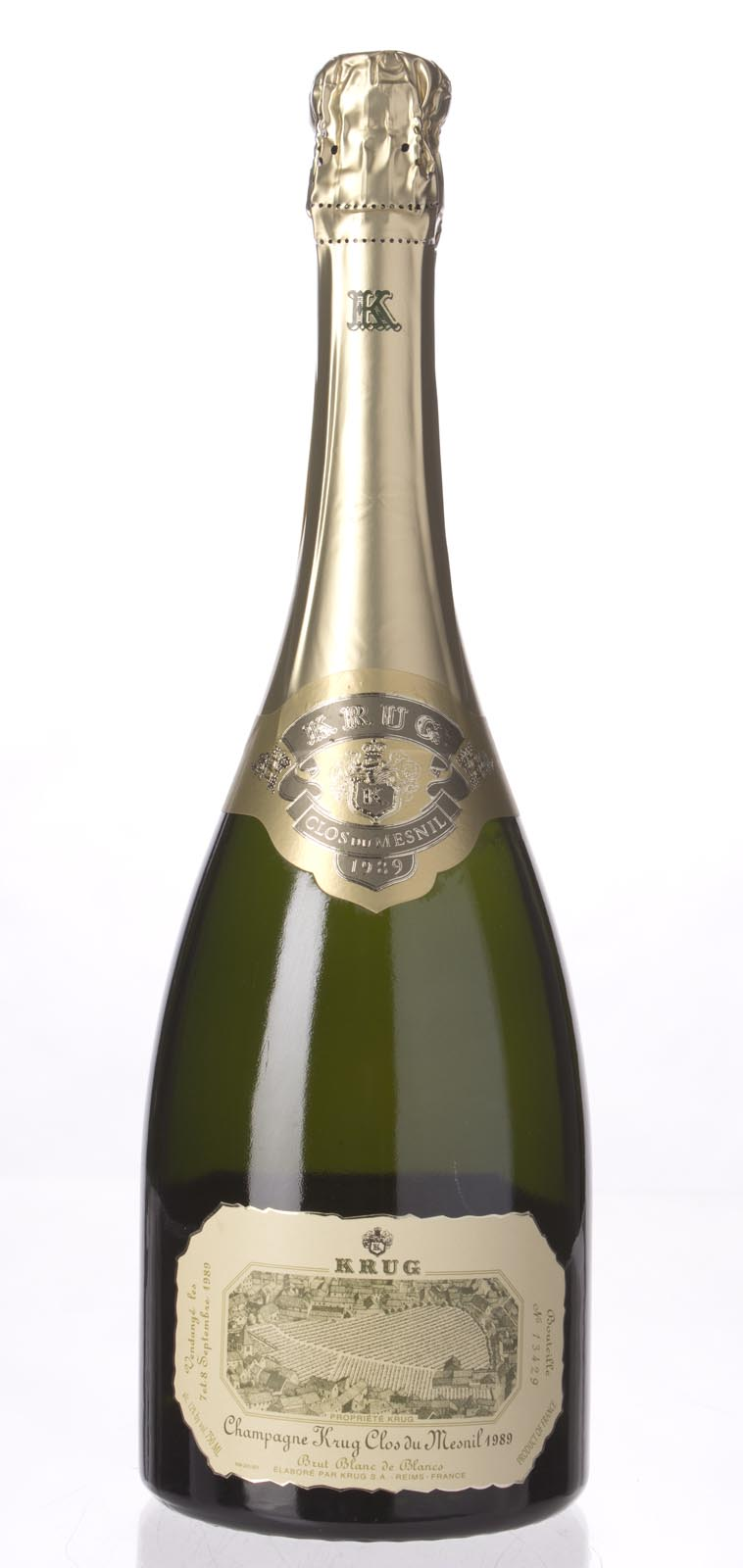Krug Clos de Mesnil Blanc de Blancs 1989, 750ml (WS94) from The BPW - Merchants of rare and fine wines.