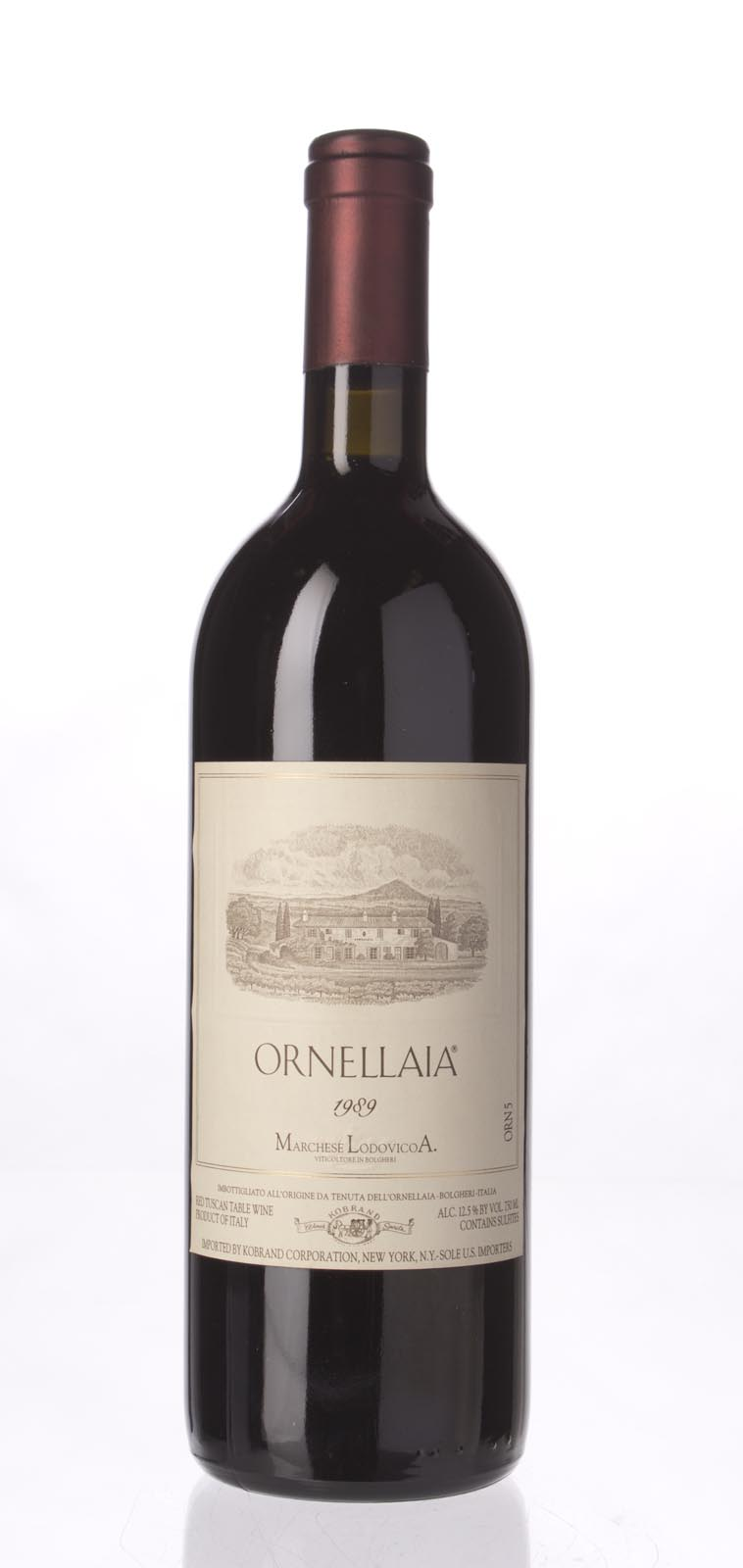 Tenuta dell`Ornellaia `Ornellaia` 1989, 750mL () from The BPW - Merchants of rare and fine wines.